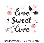 love sweet love. valentine's... | Shutterstock .eps vector #797439289
