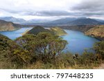 cuicocha crater lake at the... | Shutterstock . vector #797448235