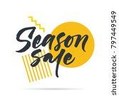 big graphic set of seasons sale ... | Shutterstock .eps vector #797449549