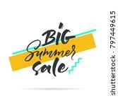 big graphic set of seasons sale ... | Shutterstock .eps vector #797449615