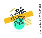 big graphic set of seasons sale ... | Shutterstock .eps vector #797449981