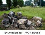 stones scattered in garden | Shutterstock . vector #797450455
