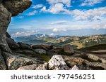 carpathian mountain landscape ... | Shutterstock . vector #797456251