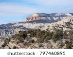 view of layers of rock ... | Shutterstock . vector #797460895