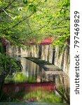 landscape of meguro river in... | Shutterstock . vector #797469829