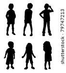 silhouette kids | Shutterstock .eps vector #79747213
