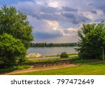 cloudy sky on the river... | Shutterstock . vector #797472649