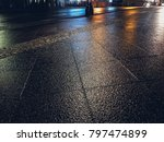 stone pavement in perspective.... | Shutterstock . vector #797474899