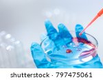 biochemical analysis and... | Shutterstock . vector #797475061