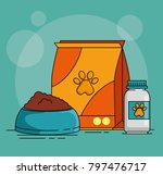 pet shop set icons | Shutterstock .eps vector #797476717