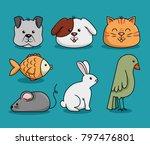 group mascots pet shop | Shutterstock .eps vector #797476801