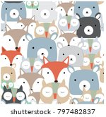 cute seamless pattern vintage... | Shutterstock .eps vector #797482837