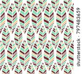 vector symmetrical leaves...   Shutterstock .eps vector #797483659