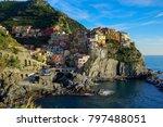 beautiful cinque terre italy | Shutterstock . vector #797488051