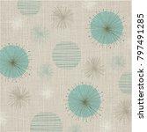 linen textured weave with... | Shutterstock .eps vector #797491285