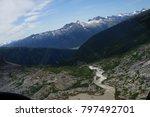 up high view of alaska.  | Shutterstock . vector #797492701