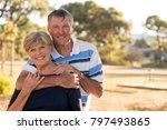 portrait of american senior... | Shutterstock . vector #797493865