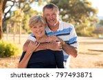 portrait of american senior... | Shutterstock . vector #797493871
