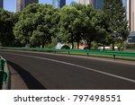 empty road surface floor with... | Shutterstock . vector #797498551