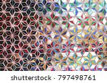 Glass Design Of Background.