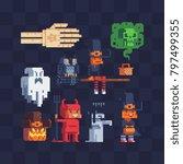 halloween party characters set. ... | Shutterstock .eps vector #797499355
