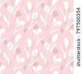 abstract floral seamless... | Shutterstock .eps vector #797500354
