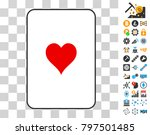 hearts suit gambling card...