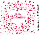 happy valentines day card ... | Shutterstock .eps vector #797504071