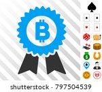 bitcoin seal with ribbons...