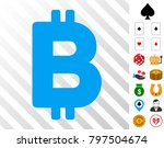bitcoin letter pictograph with...