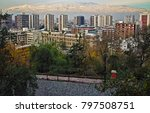 skyline of santiago  chile with ... | Shutterstock . vector #797508751