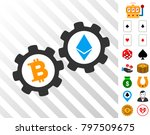 bitcoin gears pictograph with...