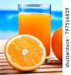 orange juice drink representing ... | Shutterstock . vector #797516839