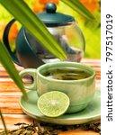 refreshing lime tea showing... | Shutterstock . vector #797517019