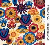 folk floral seamless pattern.... | Shutterstock .eps vector #797529811
