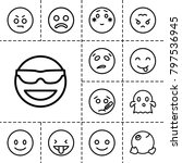 emoticon icons. set of 13... | Shutterstock .eps vector #797536945