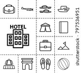 tourism icons. set of 13... | Shutterstock .eps vector #797536951