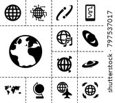 planet icons. set of 13... | Shutterstock .eps vector #797537017