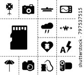 flash icons. set of 13 editable ... | Shutterstock .eps vector #797537515