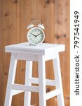 alarm clock placed on the stool | Shutterstock . vector #797541949