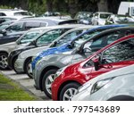angle parking cars against road ... | Shutterstock . vector #797543689