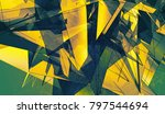 bright gold and green... | Shutterstock . vector #797544694