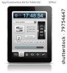 ui elements for tablet. user... | Shutterstock .eps vector #79754647