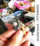 rusty mini gun for necklace...   Shutterstock . vector #797548405
