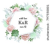 original wedding invitation... | Shutterstock .eps vector #797550001
