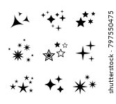 sparkles symbols collection.... | Shutterstock .eps vector #797550475