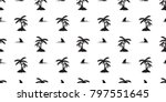seamless pattern shark fin...   Shutterstock .eps vector #797551645