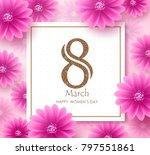 women's day vector banner... | Shutterstock .eps vector #797551861