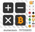 bitcoin calculator pictograph...