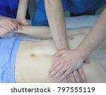 group of male doctors... | Shutterstock . vector #797555119